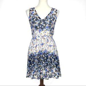 Anthropologie Everleigh Floral Sleeveless Dress